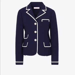 Tory Burch Navy Carrie Blazer